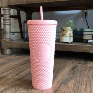 🥳 SALE 🥳 Starbucks Rare Pink Studded Tumbler